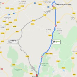 Traslado Aeropuerto de Fez a Ifrane