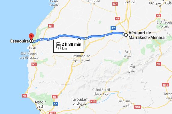 Traslado Aeropuerto de Marrakech a Essaouira