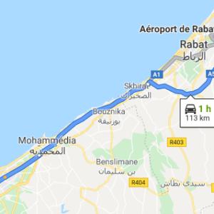 Traslado Aeropuerto de Rabat a Casablanca