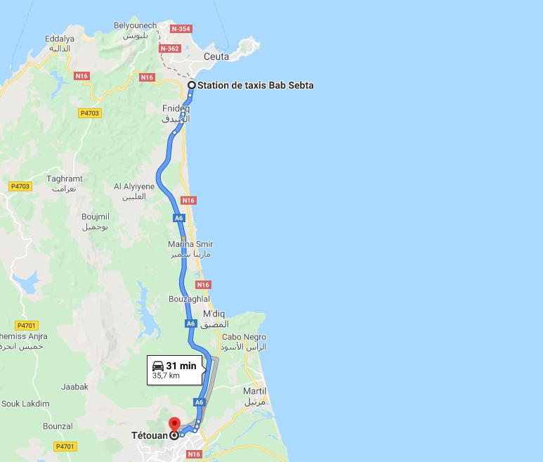 Traslado Ceuta a Tetuán