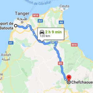 Traslado Aeropuerto Tánger a Chefchaouen