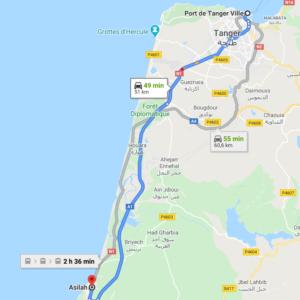 Traslado Puerto Tánger Ville a Asilah