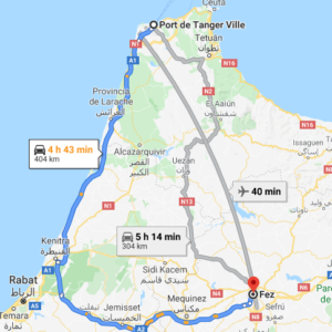 Traslado Puerto Tánger Ville a Fez