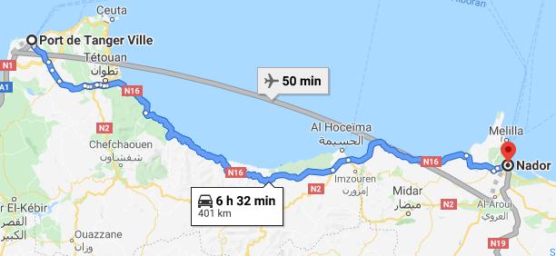 Traslado Puerto Tánger Ville a Nador