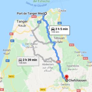 Traslado Puerto Tánger Med a Chefchaouen