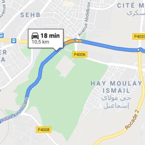 Traslado Aeropuerto de Rabat a centro ciudad