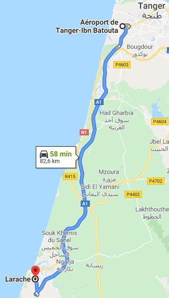 Traslado Aeropuerto Tánger a Larache