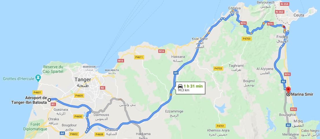 Traslado Aeropuerto Tánger a Marina Smir