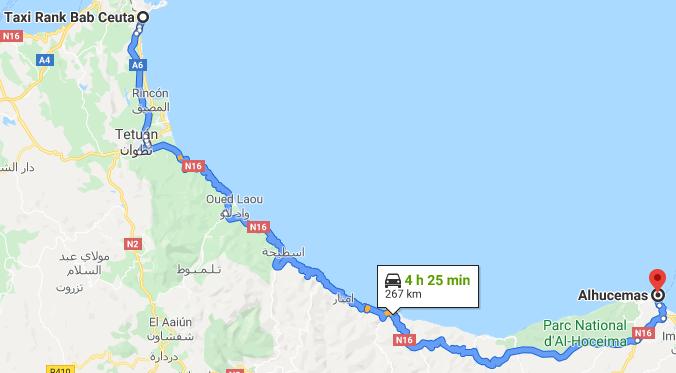 Traslado Ceuta a Alhucemas
