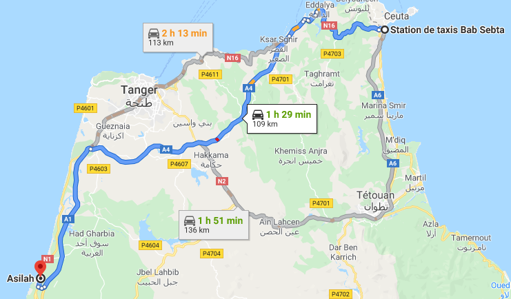 Traslado Ceuta a Asilah