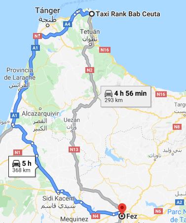 Traslado Ceuta a Fez