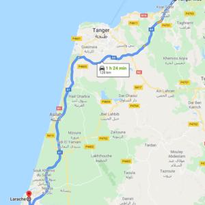 Traslado Puerto Tánger Med a Larache