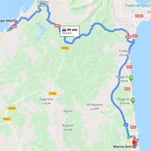 Traslado Puerto Tánger Med a Marina Smir