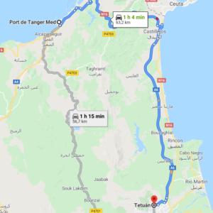 Traslado Puerto Tánger Med a Tetuán