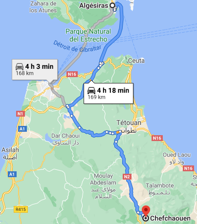 Ferry + Traslado a Chefchaouen desde Algeciras