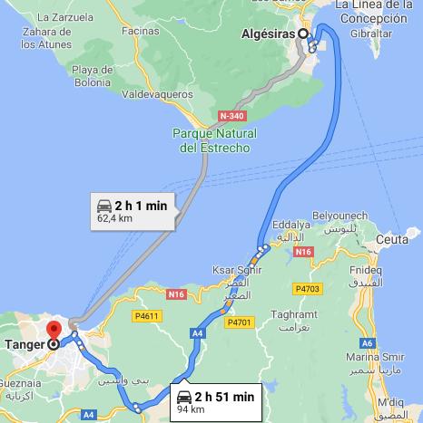 Ferry + Traslado a Tánger desde Algeciras