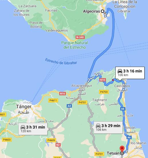 Ferry + Traslado a Tetuán desde Algeciras